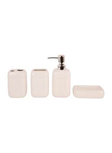 Bella Maison Dream Beyaz Banyo Set (4 Parça) Beyaz
